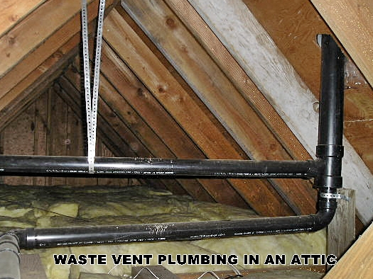 Bhi waste plumbing vents for Bathroom venting into attic